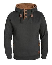 dunkelgrauer Pullover mit einem Kapuze von BLEND