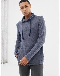dunkelgrauer Pullover mit einem Kapuze von Esprit