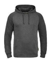 dunkelgrauer Pullover mit einem Kapuze von INDICODE