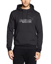 dunkelgrauer Pullover mit einem Kapuze von Puma