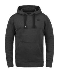 dunkelgrauer Pullover mit einem Kapuze von Solid