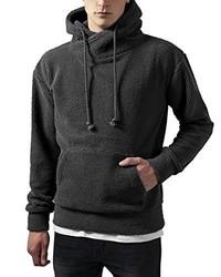 dunkelgrauer Pullover mit einem Kapuze von Urban Classics
