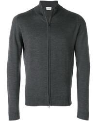 dunkelgrauer Pullover mit einem Reißverschluß