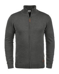 dunkelgrauer Pullover mit einem Reißverschluß von BLEND