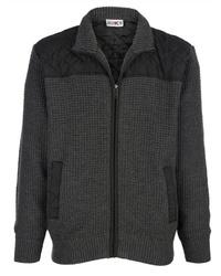 dunkelgrauer Pullover mit einem Reißverschluß von Boston Park