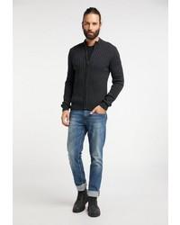 dunkelgrauer Pullover mit einem Reißverschluß von Dreimaster
