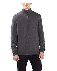 dunkelgrauer Pullover mit einem Reißverschluß von Esprit