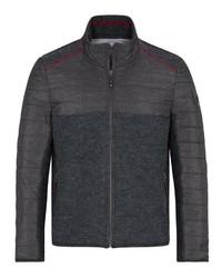 dunkelgrauer Pullover mit einem Reißverschluß von SPIETH & WENSKY