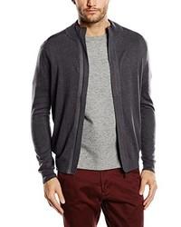 dunkelgrauer Pullover mit einem Reißverschluß von Tom Tailor