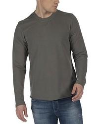 dunkelgrauer Pullover mit einem Rundhalsausschnitt von Bench