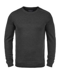 dunkelgrauer Pullover mit einem Rundhalsausschnitt von BLEND