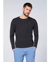dunkelgrauer Pullover mit einem Rundhalsausschnitt von Chiemsee