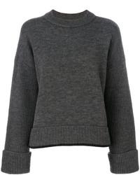 dunkelgrauer Pullover mit einem Rundhalsausschnitt von Dsquared2