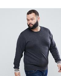 dunkelgrauer Pullover mit einem Rundhalsausschnitt von French Connection