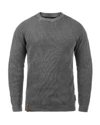 dunkelgrauer Pullover mit einem Rundhalsausschnitt von INDICODE