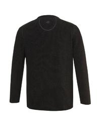dunkelgrauer Pullover mit einem Rundhalsausschnitt von JP1880