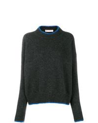dunkelgrauer Pullover mit einem Rundhalsausschnitt von Marni