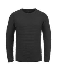 dunkelgrauer Pullover mit einem Rundhalsausschnitt von Produkt