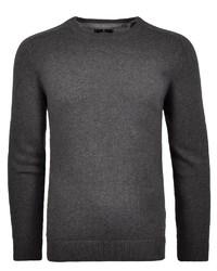 dunkelgrauer Pullover mit einem Rundhalsausschnitt von RAGMAN