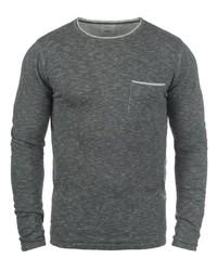 dunkelgrauer Pullover mit einem Rundhalsausschnitt von Redefined Rebel