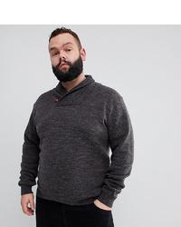 dunkelgrauer Pullover mit einem Schalkragen von French Connection