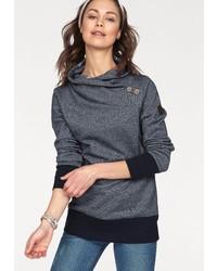 dunkelgrauer Pullover mit einem Schalkragen von NAVIGAZIONE BLU