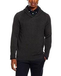 dunkelgrauer Pullover mit einem Schalkragen von Selected Homme