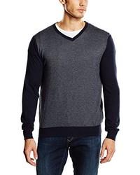 dunkelgrauer Pullover mit einem V-Ausschnitt von Cortefiel