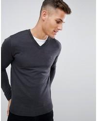 dunkelgrauer Pullover mit einem V-Ausschnitt von French Connection