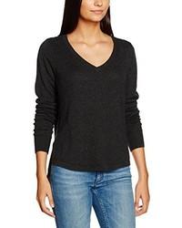 dunkelgrauer Pullover mit einem V-Ausschnitt von Vero Moda
