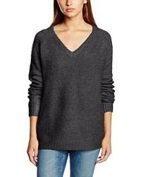 dunkelgrauer Pullover mit einem V-Ausschnitt von VILA CLOTHES