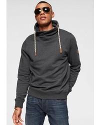 dunkelgrauer Pullover mit einer weiten Rollkragen von BLEND