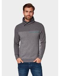 dunkelgrauer Pullover mit einer weiten Rollkragen von Tom Tailor