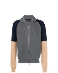 dunkelgrauer Pullover mit einem Reißverschluß von DSQUARED2