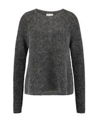 dunkelgrauer Pullover mit einem Rundhalsausschnitt von American Vintage