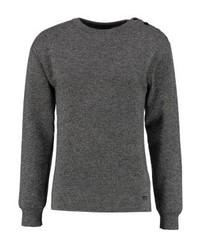 dunkelgrauer Pullover mit Rundhalsausschnitt von Armor Lux