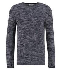 dunkelgrauer Pullover mit einem Rundhalsausschnitt von Nowadays
