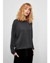 dunkelgrauer Pullover mit einem Rundhalsausschnitt von Q/S designed by