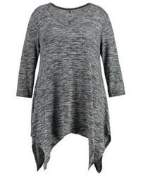 Dunkelgrauer Pullover mit V-Ausschnitt von Zizzi