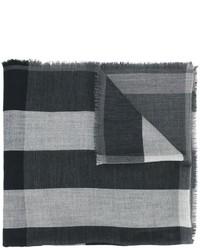 dunkelgrauer Schal mit Karomuster von Burberry