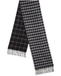 dunkelgrauer Schal mit Schottenmuster
