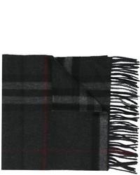 dunkelgrauer Schal mit Schottenmuster von Burberry