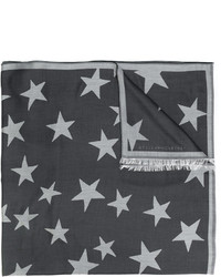 dunkelgrauer Schal mit Sternenmuster von Stella McCartney
