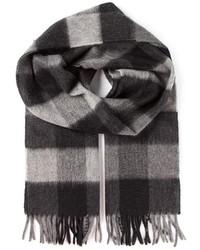 dunkelgrauer Schal mit Vichy-Muster