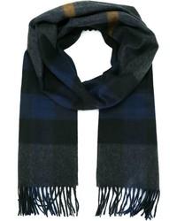 dunkelgrauer Schal mit Vichy-Muster von Burberry