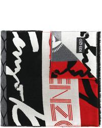 dunkelgrauer Schal von Kenzo