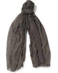 dunkelgrauer Schal von Rick Owens