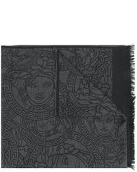 dunkelgrauer Schal von Versace