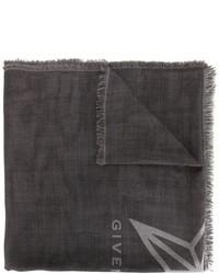 dunkelgrauer Seideschal mit Sternenmuster von Givenchy