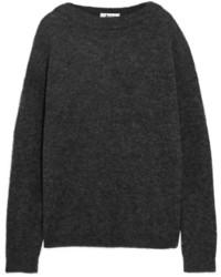 dunkelgrauer Strick Oversize Pullover von Acne Studios